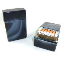 Zigaretten - Box SCHWARZ marmoriert passend für 20 Zigaretten Ohne Unterteilung