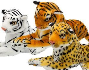 Plüsch Tiger - Löwe - Leopard - Liegend Kuscheltier 35cm weich Stofftier Neu