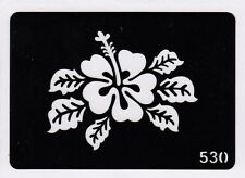 GT530 Body Art Temporary Glitter Tattoo Stencil Henna Flower