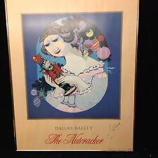 "Large Poster  1984 Dallas Ballet  ""Nutcracker"" Winnblad - autogr Andrei Ustinov"