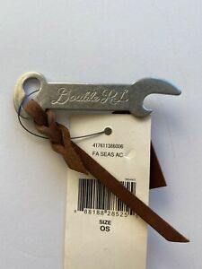 RRL WEST BROADWAY  Metal and Leather Bottle Opener Keyfob  NWT Ralph Lauren Polo