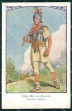 Militari Genio Italiano Guastatore Legionario Edel cartolina XF0312