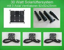 30 W Solarlüfter Solar Belüfter Solarventilator Lüftersystem Gewächhaus Garage *