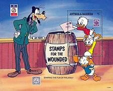 ANTIGUA = DISNEY HEROES / STAMPS for WOUNDED S/s MNH MILITARY