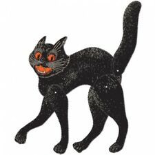 Vintage Halloween Jointed Scratch Cat Cutouts Halloween Party Decorations