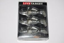 "koppers live target soft bait goby gobie 3 5/8"" 3/4oz prerigged smoke paddletail"