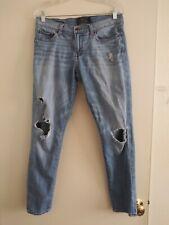 Lucky Brand Sienna Slim Boyfriend Jeans size 4/27 blue ripped