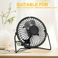 Mini USB Desk Small Quiet Personal Air Cooler USB Charging Portable Table Fan AU