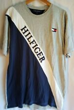 Tommy Hilfiger Spell Out Diagonal T-Shirt Men's sz XXL Custom Fit