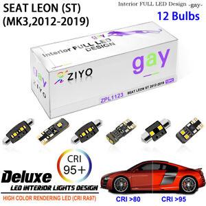 LED Light Bulbs Interior Dome Light White Kit For MK3 2012-2019 Seat Leon ST