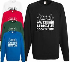 Awesome Uncle Sweatshirt Jumper Gift Xmas Present Cool Birthday Funny Hoodie