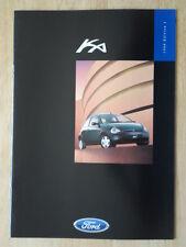 FORD KA 1998 UK Mkt sales brochure - Ka2 Ka3 Edition 1