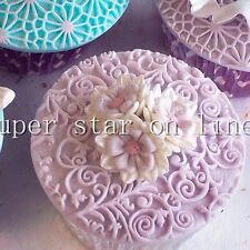 Flower Lace Cupcake Fondant Cake Decorating Wedding Decoration Silicon mold