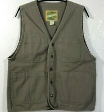 Smith & Hawken Green Goods Workwear Cotton Utility Snap Vest Small Army Green