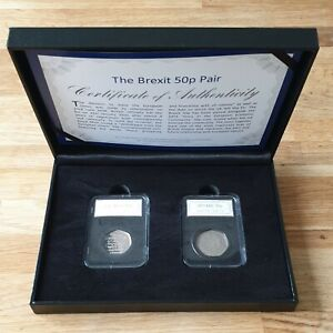 Brexit 50p Official 2 Coin pair Set 2020 Withdrawal From EU 1973