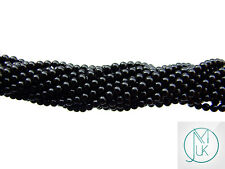 Black Onyx Natural Gemstone Round Beads 3mm Jewellery Making (120+ Beads)