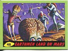 Mars Attacks Heritage Green Parallel Base Card #48    Earthmen Land on Mars
