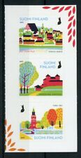 Finland 2017 MNH National Urban Parks 3v S/A Set Trees Bridges Nature Stamp