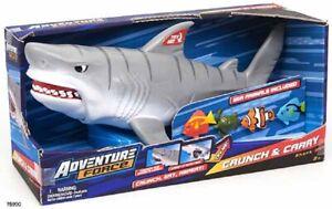 Adventure Force Shark Adventure Force Crunch & Carry Shark Toy, 5 Pieces