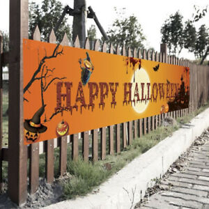Halloween Banner Pull Flag Party Celebrate Foldable Hanging Home Outdoor Decor-S