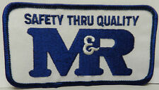 NHRA M&R SAFETY PONTIAC DODGE CHEVY FORD DRAG RACING VINTAGE PATCH JACKET HAT