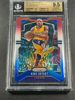 KOBE BRYANT 2019 PANINI PRIZM #8 RED WHITE BLUE REFRACTOR ALL BGS 9.5 SUBGRADES