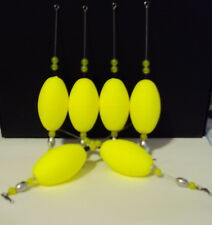 6 Bayou Slammer Popping Corks Bobbers Redfish SpecTrout, Cobia 1/4 oz Flo Yellow