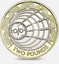 2001 £2 MARCONI WIRELESS TRANSMISSION TWO POUND COIN HUNT 03/32 RARE 2 xx
