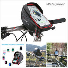 Motorcycle ATV Handlebar Mount Waterproof Cell Phone Holder Bag Case with Zipper
