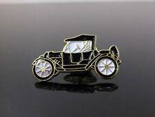 Model T Ford Enameled Black Car Badge Pin Clip