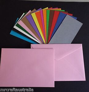 20 x C6 Envelopes 114x162mm  120GSM Quality BRIGHTS - Choose from 13 Colours