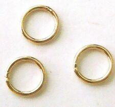 100x 3mm 14k Gold Filled Round closed soldered Jump Ring 22 gauge connector GR15