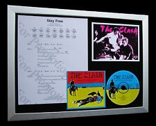 THE CLASH Stay Free LTD CD GALLERY QUALITY FRAMED DISPLAY+EXPRESS GLOBAL SHIP!