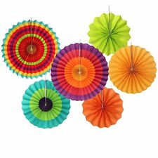 Bright Colourful Multicolour Display Chinese Paper Fan Concertina Decorations