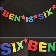Personalised 1st Birthday Party Bunting Banner First Birthday decoration any age