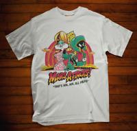Mars Attacks T-Shirt Funny Alien Movie Retro Tee Cool Bugs Martian Parody Tee
