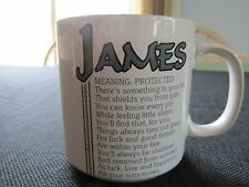 Name Coffee Mug JAMES made by Papel Novelty Gift Personalized Family name Cup