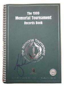 Tiger Woods signed 1999 Memorial Tour Records Book W.COA.Dublin Ohio.