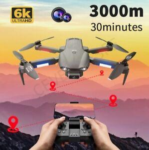 HD Camera Drone 6K-1B Video GPS 3KM Long Distance 30mi Brushless Quadcopter