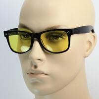 SPORT HD NIGHT DRIVING VISION SUNGLASSES YELLOW HIGH DEFINITION Fashion GLASSES