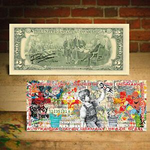 Frontline Heroes Banksy Game Changer $2 Bill Rency Art COUNTRIES - SN Ltd of 220
