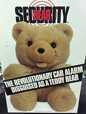 Security Bear Car Alarm System Plush Anti Theft System Doll Teddy Ted