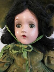 "Vintage Alexander Compo Scarlett O'Hara Doll 14"" All Original Tagged Dress"