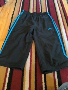 Adidas climalite netted swimming Long Shorts Boys Age 13-14 Black Blue
