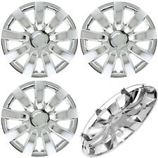 Set 4pc Chrome Hub Caps Fits Steel Wheels 15 With Metal Clips Wheel Covers Cap Fits Mustang