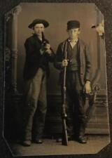 Two Ombre One Pistol and One Rifle tintype C1466RP