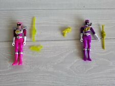 New listing Lot of 2 Power Rangers Dino Charge Supercharge Purple Pink Ranger Action Figures