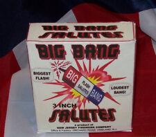 """BIG BANG 3"""" SALUTES NEW JERSEY FIREWORK CO.,  HISTORICAL FIRECRACKER BOX REPLICA"""