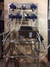 7 Pump soda / beverage dispenser stand for 6 flavor tanks with carbonator