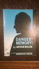 British premiere of Danger: Memory! by Arthur Miller 1987 theatre programme